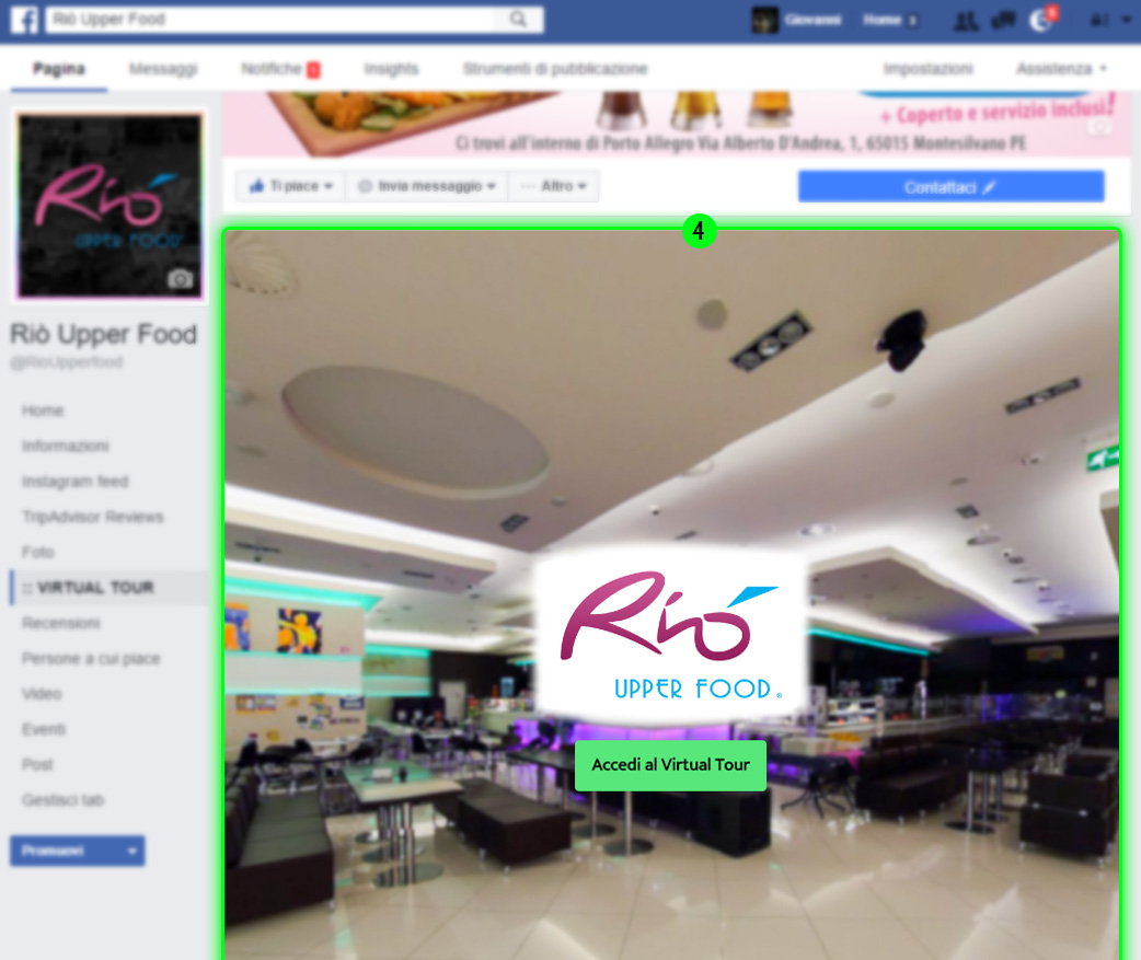 google business view pagina facebook